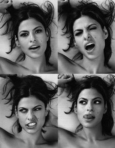 Eva Mendes -- Portrait - Editorial - Candid - Photography - Black and White - Pose Ideas Zooey Deschanel, Pretty People, Beautiful People, Eva Mendes, Face Reference, Face Expressions, Olivia Wilde, Famous Faces, Woman Face
