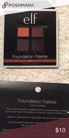 NWT ELF foundation Palette New without tag! Color deep foundation. Mirror included. Check my closet for more brand new items.  ELF Makeup Foundation