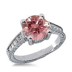 1.15 Karat Pink Diamantring 585er Weißgold