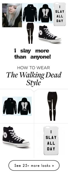 """""""I slay More than anyone *Tabor*"""" by taborfugate on Polyvore featuring Topshop and Converse"""