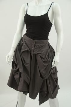 M0021W Button Bustle Skirt