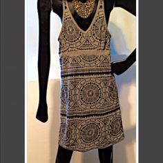 Hippie dress. Fully lined with bra built on Dankini xtra small. Comfy and fun for summer Dakini Dresses Mini
