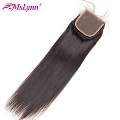 Mslynn Malaysian Straight Hair Closure 1 Bundle Human Hair Top Lace Closure With Baby Hair Swiss Lace Pre Plucked 4x4 Lace Remy  Price: 50.99 & FREE Shipping  #fashion|#sport|#tech|#lifestyle Remy Human Hair, Remy Hair, Weave Hairstyles, Straight Hairstyles, Comb For Curly Hair, Mixed Hair, Peruvian Hair, Medium Hair Styles, Hair Medium