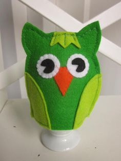 uil eierwarmer groen