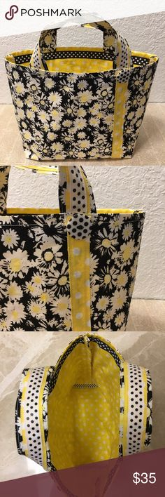 Selling this Tote -Daisy and Polka Dot on Poshmark! My username is: windytreasures. #shopmycloset #poshmark #fashion #shopping #style #forsale #Pooch Pouch #Handbags