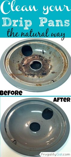*How to clean drip pans naturally and without all of those scary chemicals. Quick and easy method. - http://usefulforwomen.info/how-to-clean-drip-pans-naturally-and-without-all-of-those-scary-chemicals-quick-and-easy-method/ #justforwomen #craft #DIY