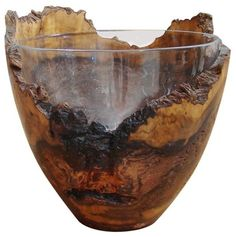 Wood and Glass Ice Bucket contemporary-ice-tools-and-buckets