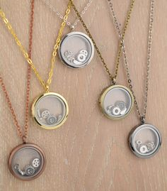 New floating lockets - steampunk themed now available!