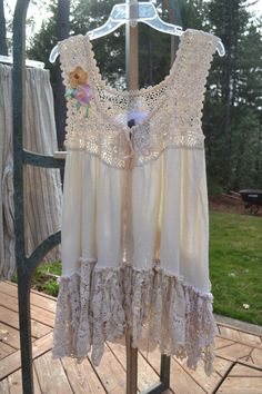 Lucky Penny Wear-Crochet and doily trimmed top. Wish I would of kept this for myself. Sold on e-bay.