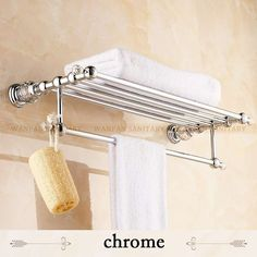 Europe Anqtiue Towel Rack Crystal Bathroom Towel Holder Gold and Diamond Fixed Bathroom Towel Hanger Double Layer 60 cm Wall Mounted Towel Holder, Towel Holder Bathroom, Bathroom Towels, Bathroom Shelves, Bathroom Storage, Towel Holders, Modern Bathroom Accessories, Bath Accessories, Bathroom Hardware