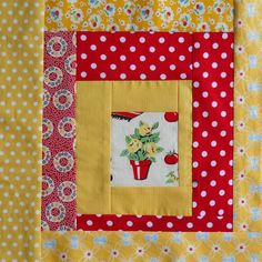 lovin this red and yellow block!