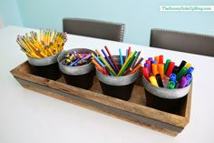 Sunny Side Up: Organized art supplies (a new solution!)