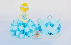 poofy cinderella, and mini ribbon crown