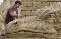 Dragon Themed Item-Sand Sculpture