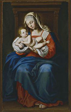 Salvi Giovanni Battista , Madonna con Bambino in trono - insieme