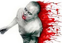 Graphite, colour pencils and watercolour.A3 watercolour paper. Buy this portrait here!