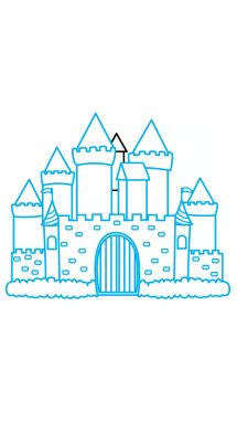 How to Draw a Castle, Easy Step-by-Step Drawing Tutorial
