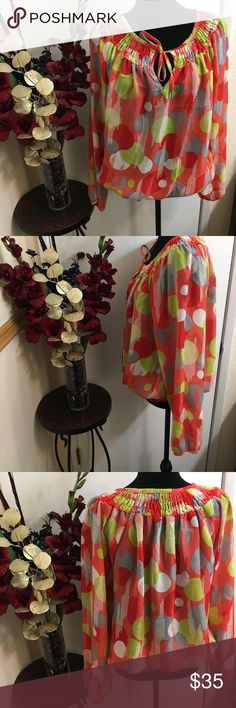 Ashley Stewart Blouse This beautiful blouse that pops with vibrant colors is a must have. This blouse has no stains, tears or snags. Worn with love.💓💓💓💓 Ashley Stewart Tops Blouses