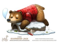 Daily Paint 1881# Slumbear-Jack by Cryptid-Creations
