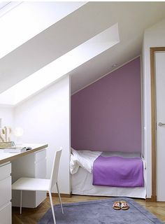 i'd love to have a bed nook Attic Master Bedroom, Attic Rooms, Small Room Bedroom, Bedroom Loft, Girls Bedroom, Apartment Inspiration, Bed Nook, Appartement Design, Small Room Design