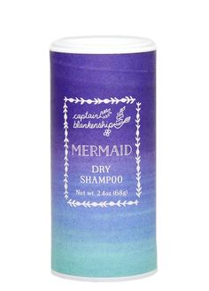 Unlock the secret to the ~mermaid~ hair of your dreams with this aptly named Captain Blankenship Mermaid dry shampoo. Good Dry Shampoo, Using Dry Shampoo, Holiday Gift Guide, Holiday Gifts, Baking Soda Scrub, Organic Essential Oils, Mermaid Hair, Clean Beauty, Eco Beauty