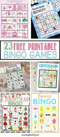 23 Free Printable Bingo Games by Kim.Bingo is, hands-down, one of our favorite activities! It is a great game to play on a cold [. Bingo Games For Kids, Printable Bingo Games, Printable Cards, Free Printables, Bingo Games Free, Game Bingo, Senior Activities, Activities For Kids, Montessori Activities