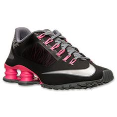 Women's Nike Shox Superfly R4 Running Shoes | Finish Line | Black/Metallic Silver/Hyper Pink