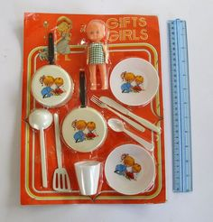 "VINTAGE - "" LITLE COOK - PLASTIC - IN BOX - VERY RARE 1970s - GREECE TOYS"