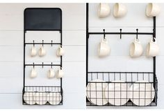 Bistro Wall Mounted Dish Rack with Chalkboard