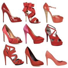 My Fav = Red Shoes!! **Especially the 1st row, middle one--ribbon heels (im in love)