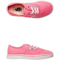 Vans Authentic Lo Pro Shoe ($35) ❤ liked on Polyvore featuring shoes, sneakers, pink, vans sneakers, lace up shoes, lace up sneakers, pink shoes and laced shoes