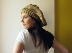 camel tam  knitted in blend wool by branda on Etsy, $36.00