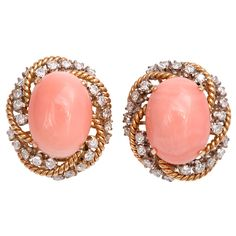 gorgeous coral studs
