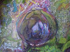 GRALSBURG,  colorierte Bleistiftzeichnung, Din-a-4 von Runa Argeya
