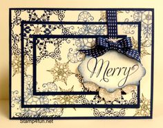 I love the new snowflake by Stamp 4 Fun with Selene Kempton ~ Stampin' Up! Independent Demonstrator