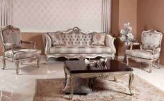 Classic Sofa Sets - Luxury Seat Models - Turkish Sofa Sets Classic Furniture, Furniture Styles, Sofa Furniture, Living Room Sets, Home Living Room, Living Room Decor, Turkish Furniture, Country Sofas, Sofa Set Designs