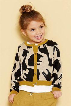 Girls Tops Online - 3 months to 6 years - Next Giraffe Print Cardigan - EziBuy Australia