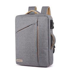 aaf60b2a0988 Men Backpack Laptop Handbag Security Lock For Business Travel College  School Backpack Deals