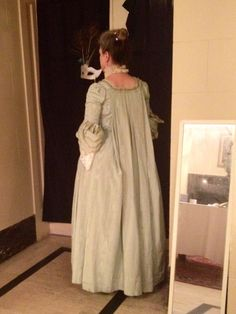 Back of a sack gown costume from Ivan Sayers' collection