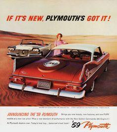Plymouth Sport Fury N Convertible 1959 Desert - Mad Men Art: The 1891-1970…