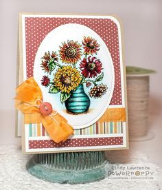 In Praise of Sunflowers Stamp Set | Power Poppy by Marcella Hawley
