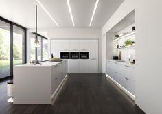 Milan - Matt White by Ellis Furniture #ModernKitchens #KitchenIdeas #PerfectKitchen #DesignTrends