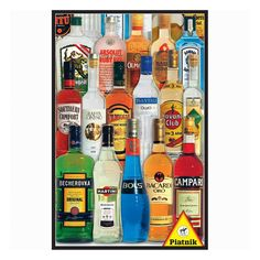 Piatnik Bottles of Spirits 1000-pc. Jigsaw Puzzle, Multicolor