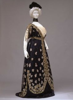 Fripperies and Fobs Evening dress, 1907-10  From the Galleria del Costume di Palazzo Pitti via Europeana Fashion