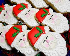 images of decorated bell cookies | Decorated Cookies - Sant a Decorated Cookie favors - Christmas Cookies ...