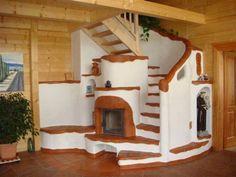 Kemencék: Beautiful Hungarian Home Furnaces Dream Home Design, My Dream Home, House Design, Home Furnace, Mexican Interior Design, Bubble House, Earth Bag Homes, Earthship Home, Tadelakt