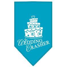 Wedding Crasher Screen Print Bandana Turquoise Small