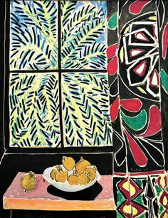 """Henri Matisse - Fauvisme -  """"Interior with an Egyptian Curtain"""", 1948."""