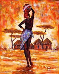 cuadros etnicos africanos mujeres