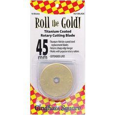 Fiskars Roll The Gold! Titanium Coated Rotary Cutting Blade 45mm - 10/Pkg
